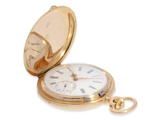 Pocket watch: heavy, very fine red-gold Savonnette with Repetition, excellent quality, Maurice Ditisheim, La Chaux-de-Fonds, No. 13385, delivered to Carl Lehar, a watchmaker in Vienna, about 1900 - photo 7