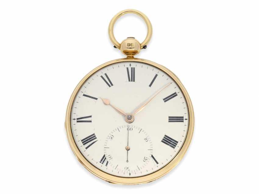 Pocket watch: early English Watch, of high fine quality, Henry Parkinson, London, No. 1352, Hallmarks London 1830 - photo 1