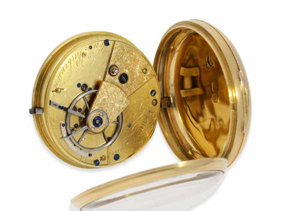 Pocket watch: early English Watch, of high fine quality, Henry Parkinson, London, No. 1352, Hallmarks London 1830 - photo 2
