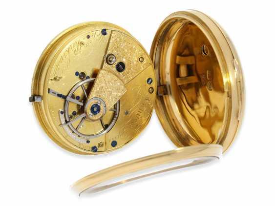 Pocket watch: early English Watch, of high fine quality, Henry Parkinson, London, No. 1352, Hallmarks London 1830 - photo 3