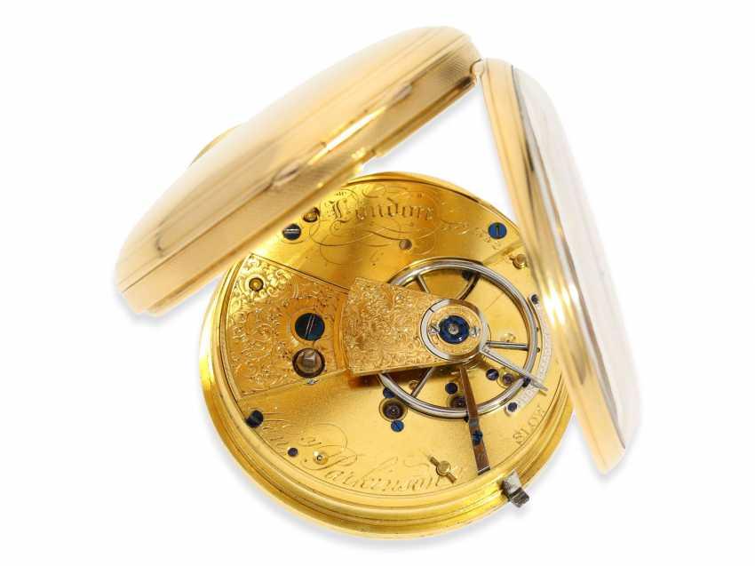 Pocket watch: early English Watch, of high fine quality, Henry Parkinson, London, No. 1352, Hallmarks London 1830 - photo 4