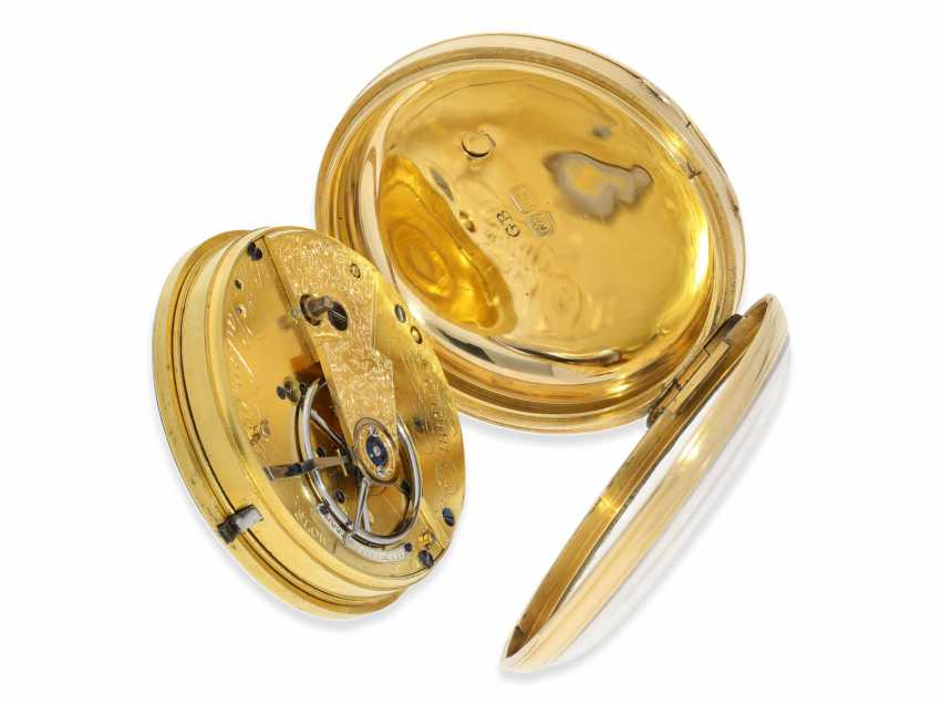 Pocket watch: early English Watch, of high fine quality, Henry Parkinson, London, No. 1352, Hallmarks London 1830 - photo 5