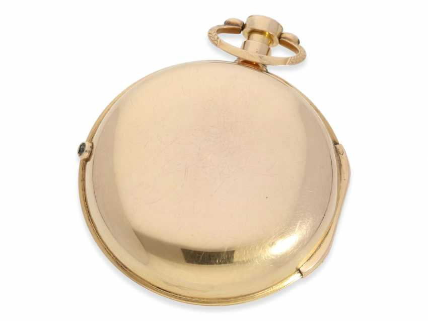 Pocket watch: heavy and large Golden-red double case-Spindeluhr with stop seconds, George Prior, London, No. 365, CA. 1800 - photo 2