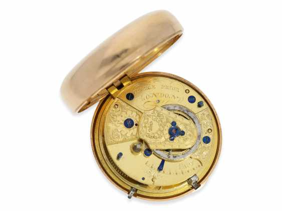 Pocket watch: heavy and large Golden-red double case-Spindeluhr with stop seconds, George Prior, London, No. 365, CA. 1800 - photo 5