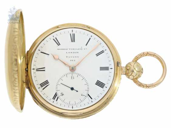 Pocket watch: particularly heavy English gold savonnette with computing anchor escapement, and the rare 15-second ad, Morris Tobias & Co, London No. 882, Hallmarks 1806 - photo 1