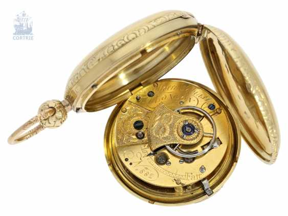 Pocket watch: particularly heavy English gold savonnette with computing anchor escapement, and the rare 15-second ad, Morris Tobias & Co, London No. 882, Hallmarks 1806 - photo 5