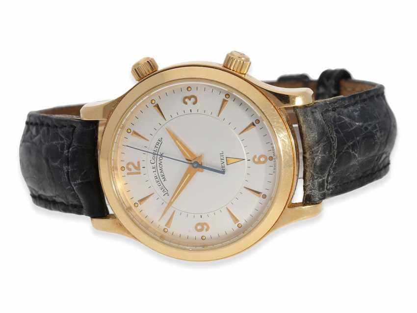 """Wrist watch: high quality men's watch, Jaeger-LeCoultre, """"Master Memovox"""" Ref.144.2.94, 18K rose gold - photo 1"""