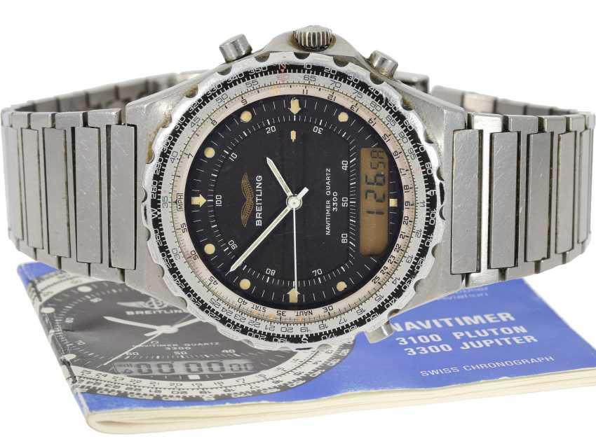 "Watch: rare Breitling Navitimer for the Iraq air force Breitling ""Jupiter Pilot Navitimer 3300"" Ref.80972, very rarely with Iraqi military marking - photo 1"