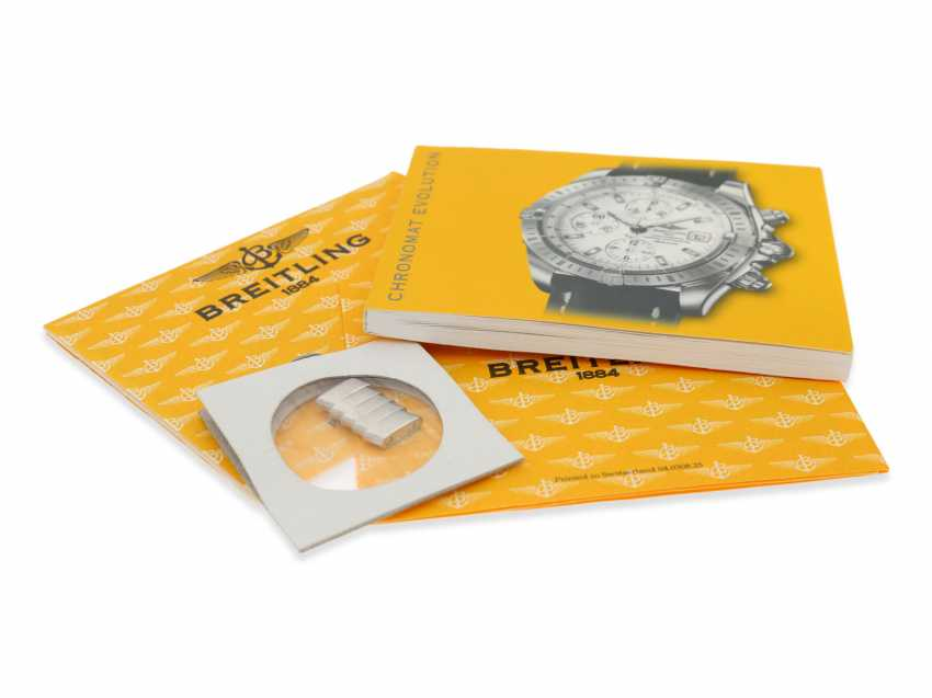 Wrist watch: high quality Breitling steel Chronograph, certified Chronometer reference A13356, Full Set, all papers, chronometer certificate and original box - photo 2