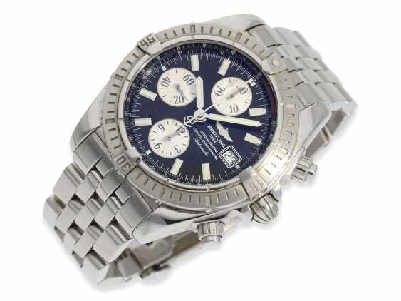 Wrist watch: high quality Breitling steel Chronograph, certified Chronometer reference A13356, Full Set, all papers, chronometer certificate and original box - photo 3