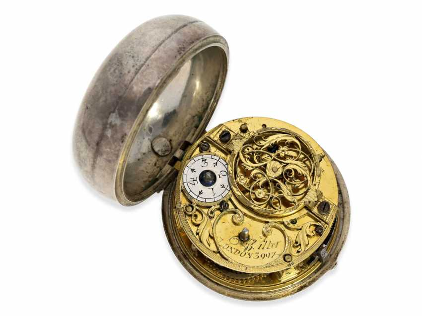 Pocket watch: an exceptionally large and magnificent repoussé technology-Spindeluhr, outstanding housing quality, signed Cochin-housing, Wilter London No. 3991, CA. 1760 - photo 3