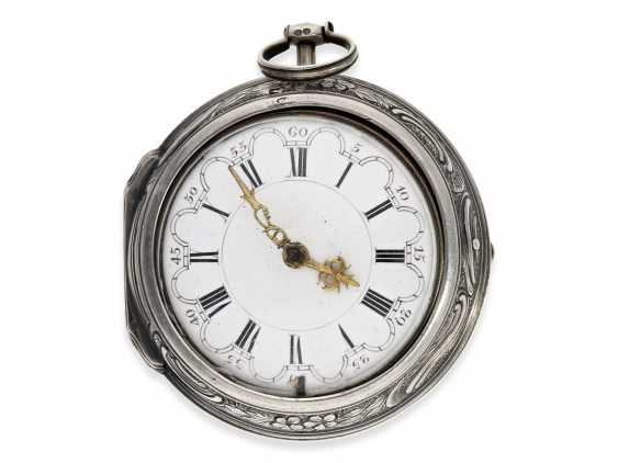 Pocket watch: an exceptionally large and magnificent repoussé technology-Spindeluhr, outstanding housing quality, signed Cochin-housing, Wilter London No. 3991, CA. 1760 - photo 5