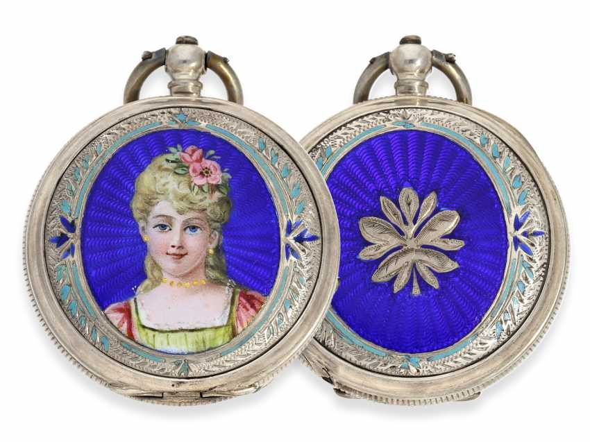 Pocket watch: rare enameled ladies savonnette for the Chinese market, Juvet No. 59690, CA. 1860 - photo 1