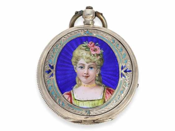 Pocket watch: rare enameled ladies savonnette for the Chinese market, Juvet No. 59690, CA. 1860 - photo 2
