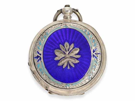 Pocket watch: rare enameled ladies savonnette for the Chinese market, Juvet No. 59690, CA. 1860 - photo 5