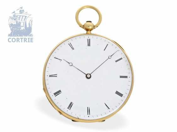Pocket watch: very fine Gold/enamel pocket watch, probably made for Oskar I, king of Sweden, signed Robin Paris, CA. 1845 - photo 3