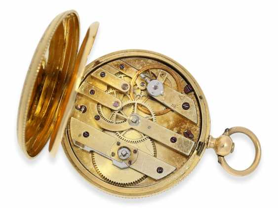 Pocket watch/Anhängeuhr: Patek Philippe, rare, early, early, early Gold/enamel ladies watch with brooch, Patek Philippe No. 7831, for the Polish market, to 1856 - photo 5