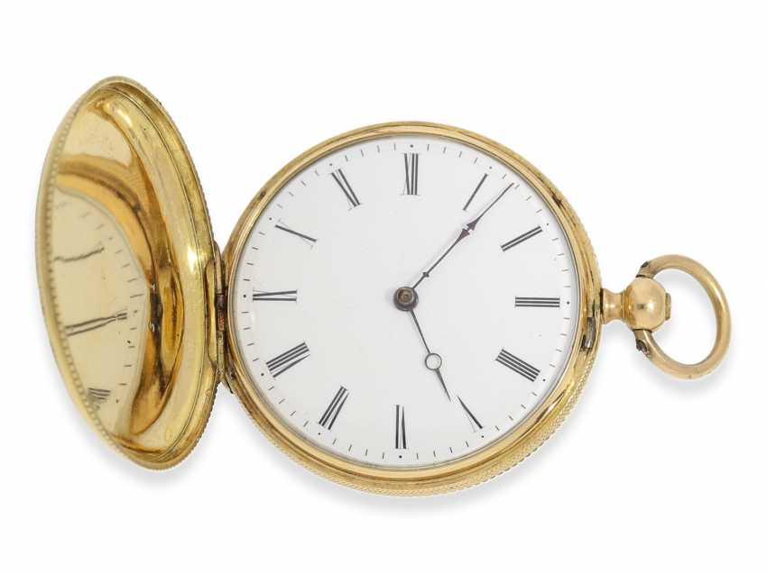 Pocket watch/Anhängeuhr: Patek Philippe, rare, early, early, early Gold/enamel ladies watch with brooch, Patek Philippe No. 7831, for the Polish market, to 1856 - photo 7