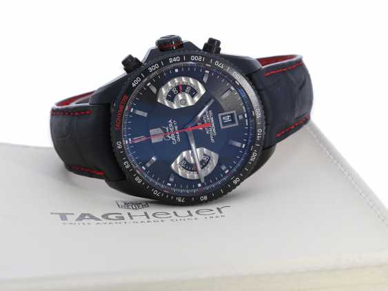 """Wrist watch: high quality, modern sports Chronograph watch, TAG Heuer """"Grand Carrera Calibre 17 RS2 titanium"""" , C. O. S. C Chronometer, complete with papers and original box (Full Set) by 2015, EIA 7.650€ - photo 1"""