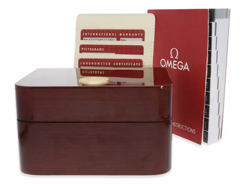 """Watch: very high quality, vintage Omega men's watch, Chronograph watch """"CHRONOSCOPE GMT"""", certified Co-Axial chronometer, Full kit with all papers and original box - photo 4"""