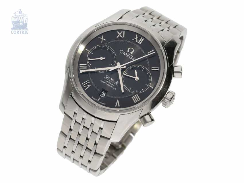 Watch: sport Chronograph, Omega De Ville Co-Axial automatic Chronometer in stainless steel - photo 1