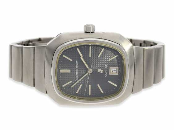 """Watch: vintage rare, """"Beta 21"""" Audemars Piguet in the rare Version with the original steel band, No. 100062/153574, CA. 1980 - photo 1"""