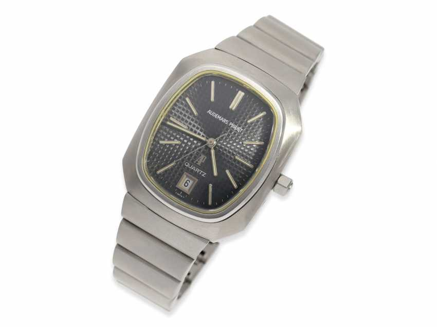 """Watch: vintage rare, """"Beta 21"""" Audemars Piguet in the rare Version with the original steel band, No. 100062/153574, CA. 1980 - photo 2"""