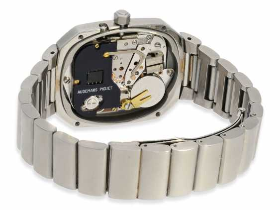 """Watch: vintage rare, """"Beta 21"""" Audemars Piguet in the rare Version with the original steel band, No. 100062/153574, CA. 1980 - photo 6"""