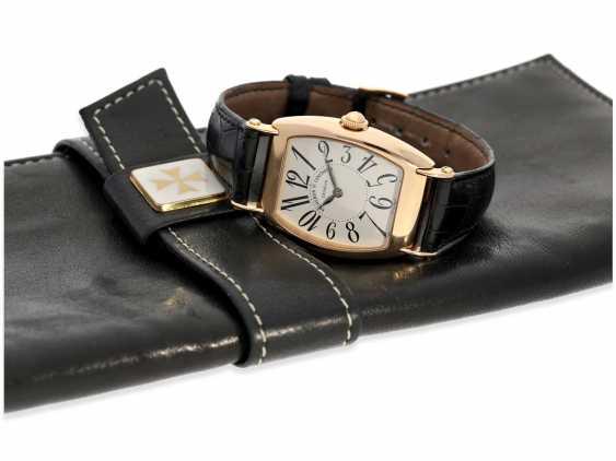 """Armbanduhr: hochwertige, roségoldene Herrenuhr in 18K Gold, Vacheron & Constantin """"Historic 1912"""" Barrel, Limited Edition mit Originalpapieren und Originaletui von 1998 - photo 1"""