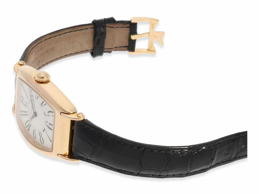 """Armbanduhr: hochwertige, roségoldene Herrenuhr in 18K Gold, Vacheron & Constantin """"Historic 1912"""" Barrel, Limited Edition mit Originalpapieren und Originaletui von 1998 - photo 4"""
