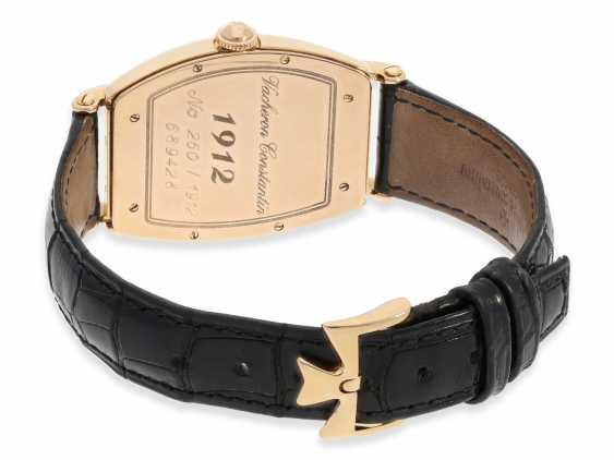 """Armbanduhr: hochwertige, roségoldene Herrenuhr in 18K Gold, Vacheron & Constantin """"Historic 1912"""" Barrel, Limited Edition mit Originalpapieren und Originaletui von 1998 - photo 5"""