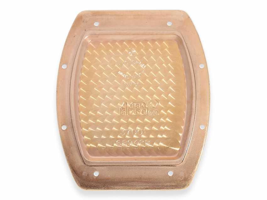 """Armbanduhr: hochwertige, roségoldene Herrenuhr in 18K Gold, Vacheron & Constantin """"Historic 1912"""" Barrel, Limited Edition mit Originalpapieren und Originaletui von 1998 - photo 6"""