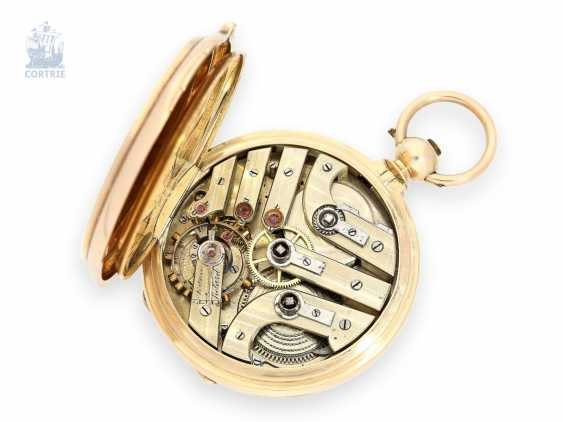 Pocket watch: especially heavy gold savonnette with chronometer escapement and drive over chain and screw, chronometer maker Monnard Geneve No. 101385, CA. 1865 - photo 6
