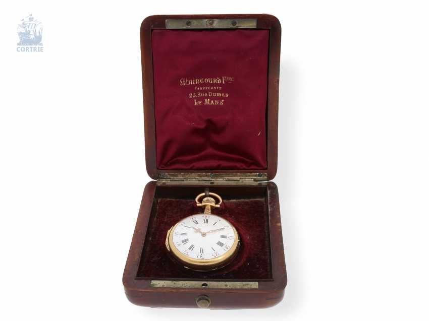 Pocket watch: very fine and extremely rare French Louis XVI-Style Pocket chronometer with original box, Maingourd Freres Le Mans No. 50653, CA. 1870 - photo 4