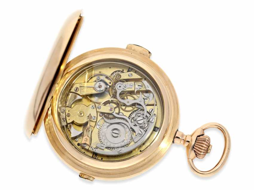 Pocket watch: very large and heavy, astronomical gold savonnette with 7 complications, including minute repeater, Picard & Cie. La Chaux-de-Fonds, made for the brothers Wirth in Russia, CA. 1895 - photo 2