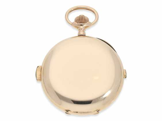 Pocket watch: very large and heavy, astronomical gold savonnette with 7 complications, including minute repeater, Picard & Cie. La Chaux-de-Fonds, made for the brothers Wirth in Russia, CA. 1895 - photo 7