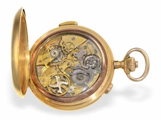 Pocket watch: heavy, astronomical gold savonnette with 6 complications, Invicta 1890 - photo 2