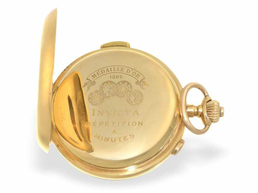 Pocket watch: heavy, astronomical gold savonnette with 6 complications, Invicta 1890 - photo 3