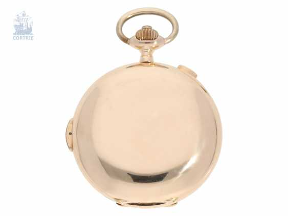 Pocket watch: heavy and especially large, complicated astronomical gold savonnette, Louis Brandt & Fils; Biel, CA. 1900 - photo 2