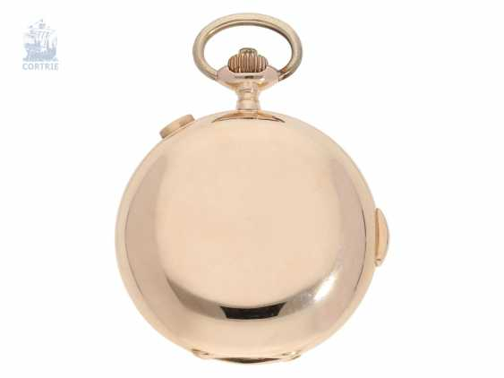 Pocket watch: heavy and especially large, complicated astronomical gold savonnette, Louis Brandt & Fils; Biel, CA. 1900 - photo 3