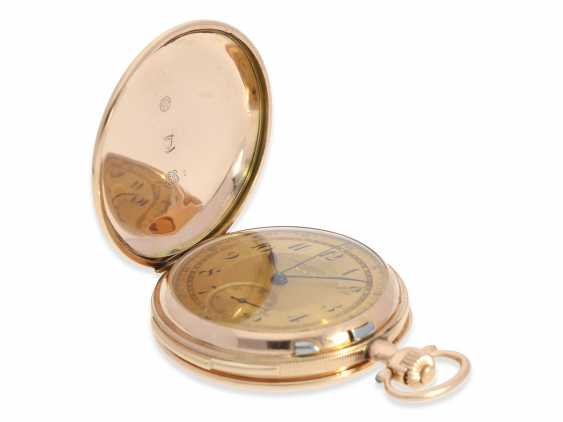 Pocket watch: heavy, very fine red-gold Savonnette minute repeater and Chronograph, Audemars Fils, Geneve, No. 136055, made for the Russian market, CA. 1900 - photo 7
