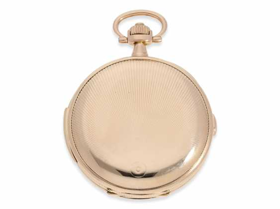 Pocket watch: heavy, very fine red-gold Savonnette minute repeater and Chronograph, Audemars Fils, Geneve, No. 136055, made for the Russian market, CA. 1900 - photo 8