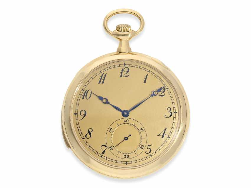 Pocket watch: exquisite, small and very fine Frackuhr with minute repeater, Audemars Piguet, Brassus & Genève, No. 8995, CA. 1900 - photo 1