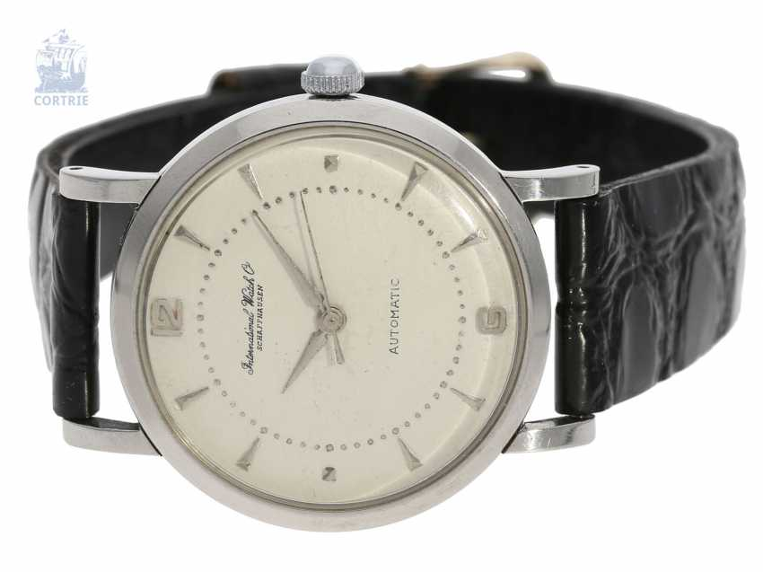 Watch: very nice IWC automatic in stainless steel, Schaffhausen, 1952 - photo 1