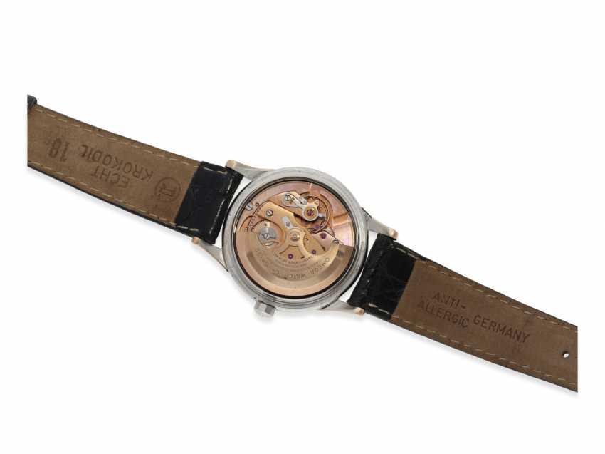 Watch: very attractive Omega Constellation Chronometer Calendar in stainless steel/rose gold Ref.2943-2-SC, with original box, called Constellation-Calendar Haji Abdullah Alireza & Co, 1959 - photo 5