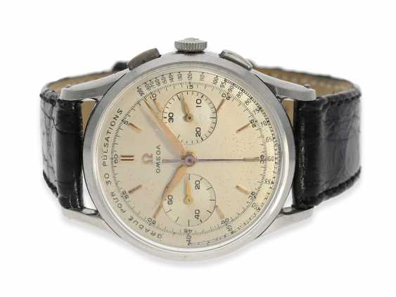 Watch: fine and extremely rare Omega Doctors Chronograph in stainless steel, reference CK2463, built in 1958 - photo 1