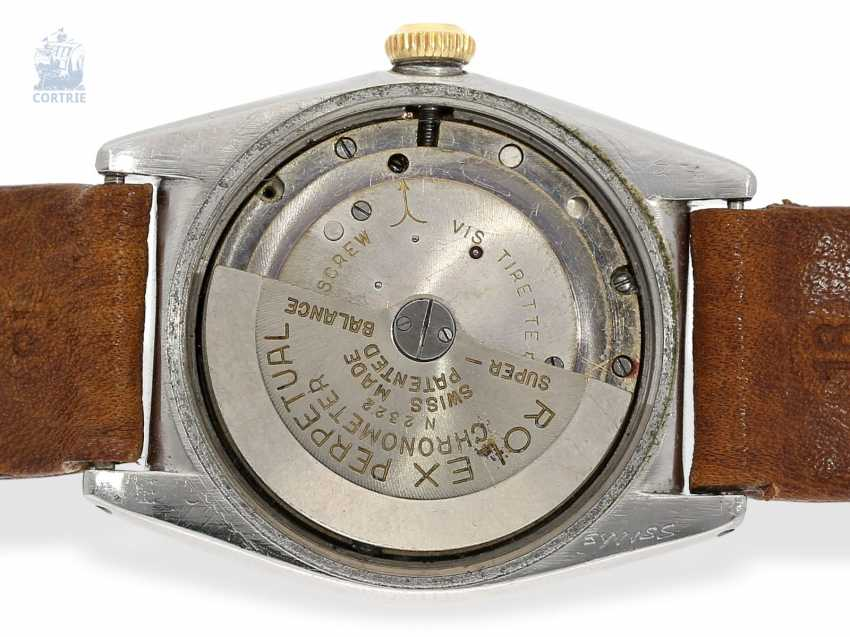 "Watch: very rare Rolex men's watch from 1944, ""ROLEX REF. 3133 BUBBLE BACK PINK CALIFORNIA DIAL STEEL/PINK GOLD"" - photo 2"