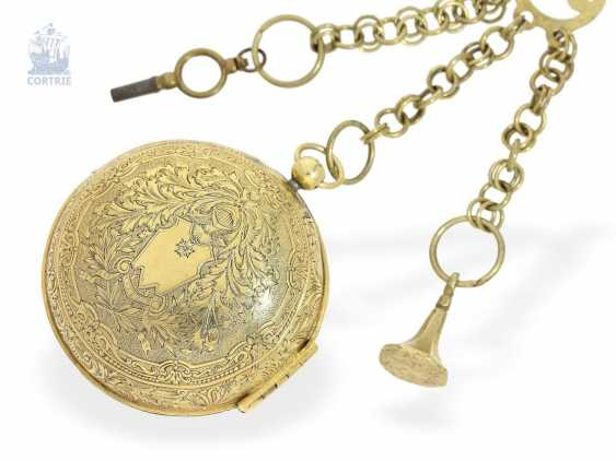 Pocket watch: fine Louis XIV Oignon, from the Hand of the Hofuhrmachers of the Duc d'orleans and the king of France, Gaudron, Paris, 1710 - photo 1