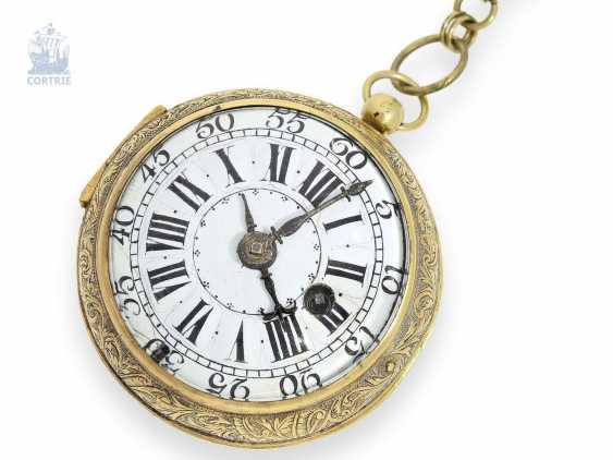 Pocket watch: fine Louis XIV Oignon, from the Hand of the Hofuhrmachers of the Duc d'orleans and the king of France, Gaudron, Paris, 1710 - photo 6