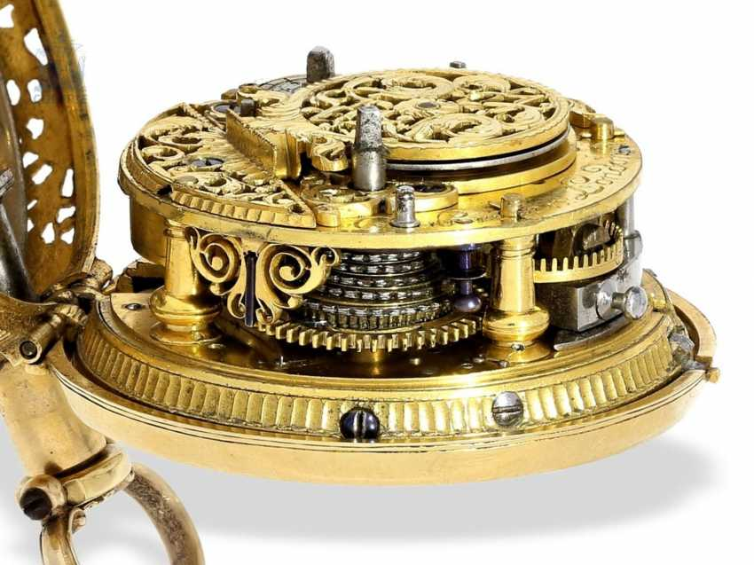 Pocket watch: a magnificent, Museum-like, double-enclosure-repair, replace-Spindeluhr of outstanding quality, 1/8 Repetition, Charles Cabrier, London, around 1730 - photo 2